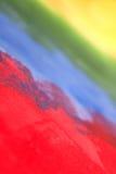 Regenbogen ungefähr gemalt mit Acryl Lizenzfreies Stockbild