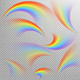 Regenbogen in verschillende vorm realistische reeks Eps 10 Stock Foto