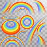 Regenbogen in verschillende vorm realistische reeks Eps 10 Royalty-vrije Stock Fotografie