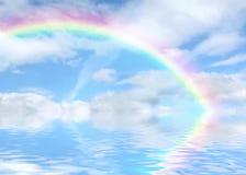 Regenbogen Vista lizenzfreie abbildung