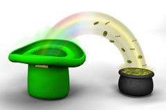 Regenbogen vom Kobold ha lizenzfreie abbildung