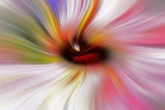 Regenbogen von den Linien, die zur Mitte fließen Lizenzfreie Stockfotografie