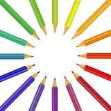 Regenbogen von Farben stock abbildung