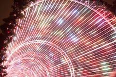 Regenbogen von farbigen Lichtern in einem Bogen Lizenzfreie Stockfotos