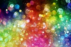 Regenbogen von Lichtern Stockfoto