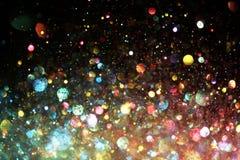 Regenbogen von Lichtern Stockfotografie