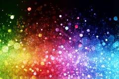 Regenbogen von Lichtern Stockbild