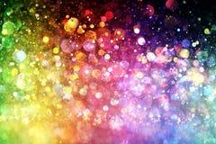 Regenbogen von Lichtern Lizenzfreie Stockfotografie