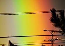Regenbogen-Zeit Stockbild