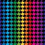 Regenbogen-Zickzack Lizenzfreie Stockbilder
