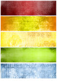 Regenbogenbeschaffenheiten und -hintergründe für Fahnen Stockfotos