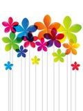 Regenbogenblumen stock abbildung
