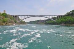 Regenbogenbrücke auf dem Niagara Fluss Lizenzfreies Stockbild