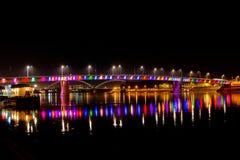 Regenbogenbrücke, Novi Sad, Serbien stockbild