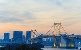 Regenbogenbrücke in Odaiba, Tokyo Lizenzfreies Stockfoto