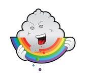 Regenbogenesser im Himmel Stockbild
