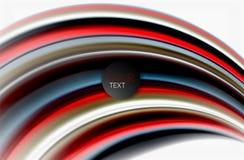 Regenbogenfarbe bewegt, Vektor unscharfer abstrakter Hintergrund wellenartig stock abbildung