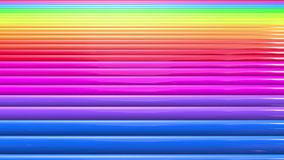 Regenbogenfarben extrahieren Streifen, Hintergrund in 4k mit heller glänzender Farbe Glatte nahtlose Animation mit Steigungsfarbe stock footage