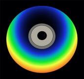 Regenbogenfarbencd auf schwarzem Vektor Lizenzfreie Stockfotos