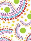 Regenbogenfrühlingsblumen und -punkt stock abbildung