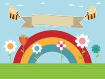 Regenbogengarten Lizenzfreie Stockfotografie