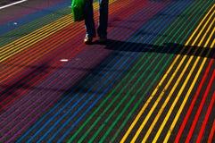 Regenbogengehweg Stockfoto