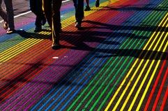 Regenbogengehweg Lizenzfreie Stockfotografie