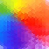 Regenbogengeometriehintergrund Lizenzfreie Stockfotos