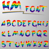 Regenbogenguß Hakuna Matata Lizenzfreie Stockfotografie