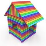 Regenbogenhaus Lizenzfreies Stockfoto