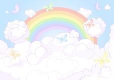 Regenbogenhimmel Lizenzfreies Stockbild