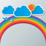 Regenbogenhimmelhintergrund Lizenzfreies Stockfoto