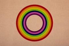 Regenbogenkreis auf Segeltuch, hohe Auflösung, einzeln aufgeführt stockfotografie