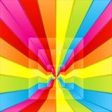 Regenbogenlabyrinthmethode vektor abbildung
