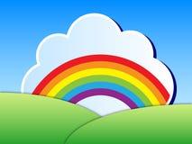 Regenbogenlandschaft stock abbildung