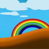 Regenbogenlandschaftsgestaltung Lizenzfreies Stockfoto