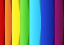 Regenbogenlinien - neue Fahnenschablone Lizenzfreies Stockbild