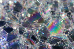 Regenbogenluftblasen. Stockfoto