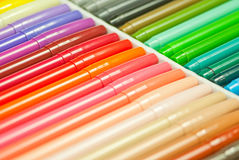 Regenbogenmagiestifte Stockfotografie