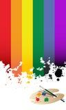 Regenbogenmarkierungsfahne Stockfoto