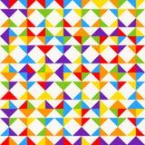 Regenbogenmosaikfliesen, abstrakter geometrischer Hintergrund, nahtloses Vektormuster Stockfoto