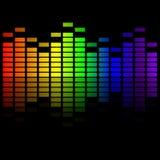 Regenbogenmusikentzerrer Stockbild