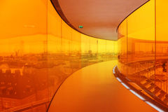Regenbogenpanorama bei ARoS Art Museum, Aarhus, Dänemark Lizenzfreie Stockbilder