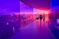 Regenbogenpanorama von Aarhus, Dänemark Lizenzfreies Stockbild
