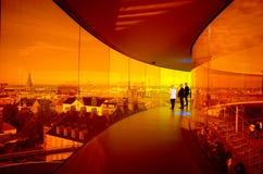 Regenbogenpanorama von Aarhus, Dänemark Lizenzfreie Stockbilder