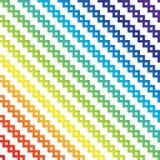 Regenbogenpixelkunst Lizenzfreies Stockfoto