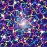 Regenbogenpolygone mit Lichtern Lizenzfreies Stockfoto
