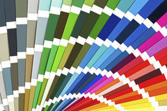 Regenbogenprobe färbt Katalog Farbführer-Paletten-Hintergrund stockbilder