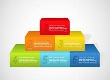 Regenbogenpyramide mit Zahlen Stockbild