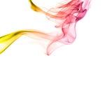 Regenbogenrauch lokalisiert auf weißem Hintergrund Stockfotografie